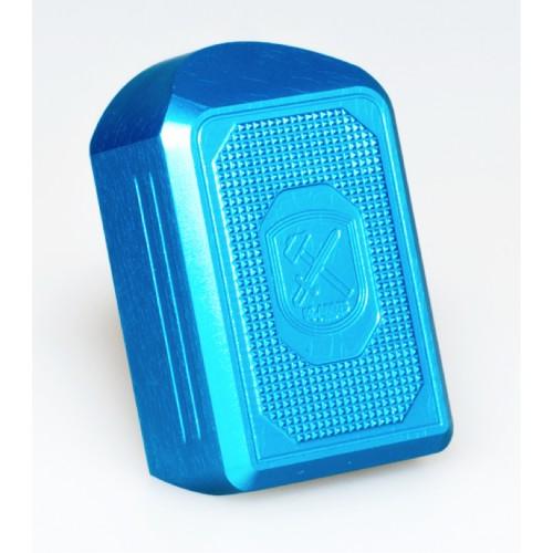 Base cargador Glock +2 aluminio M-Arms Azul