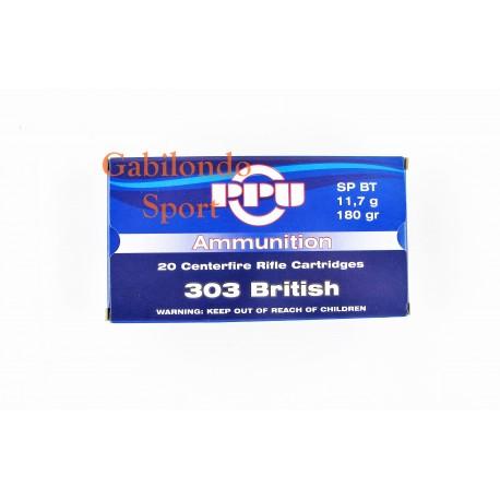 Munición PRVI 303 British SP BT 180 gr.
