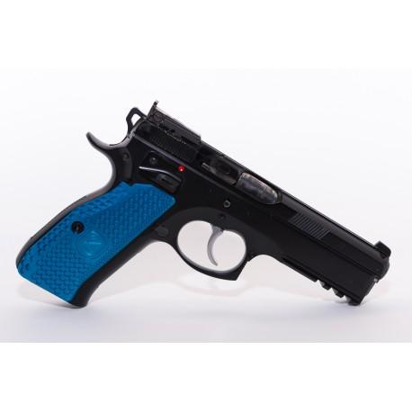 Cachas CZ 75 SP01 M-Arms aluminio azul