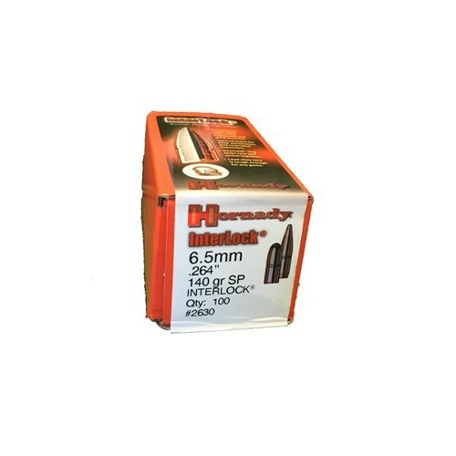 Plomos Hornady Cal.6,5MM 140gr SP INTERLOCK (100 unds)
