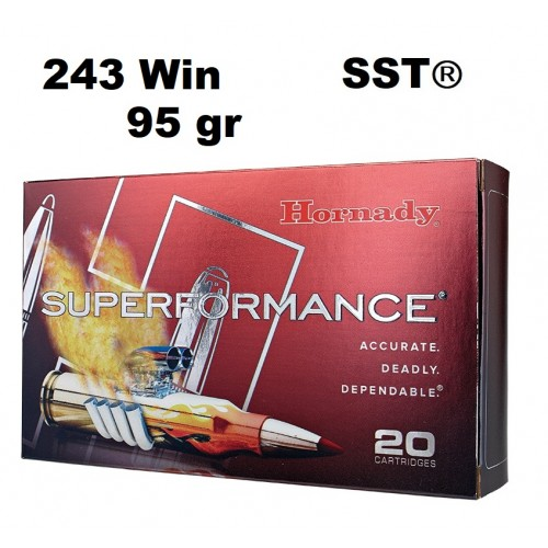 Munición Hornady 243 WIN SUPERFORMANCE SST 95 gr