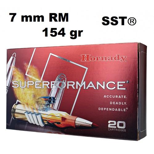 Munición Hornady 7MM Rem Mag SUPERFORMANCE SST 154 gr