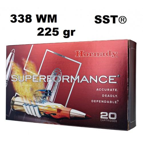 Munición Hornady 338 WM Superformance SST 225 gr
