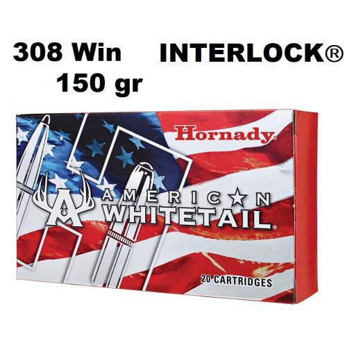 Municion Hornady 308 Win WHITETAIL INTERLOCK 150 gr