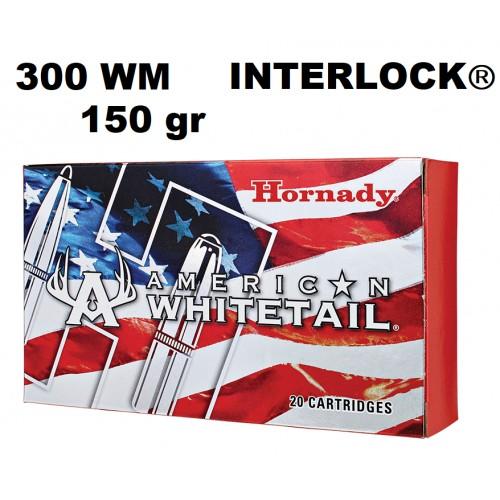 Munición Hornady 300 WM WHITETAIL INTERLOCK 150GR.