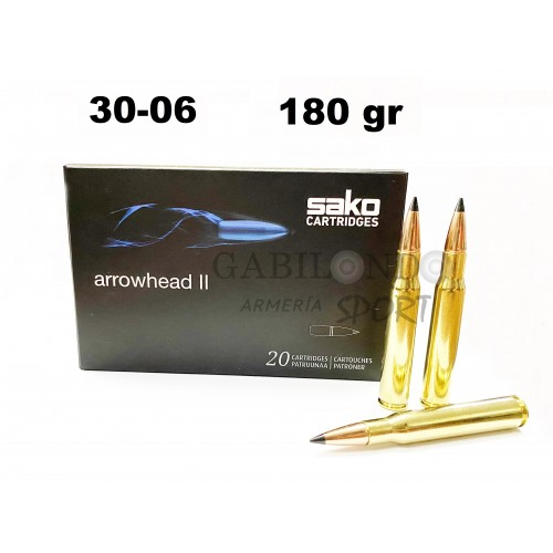 Municion Sako Cal.30-06 Arrowhead II 180 gr
