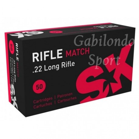 Munición SK Rifle Match 22 L.R.